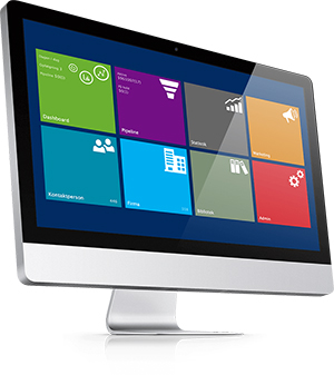 CRM office 365 on computer screen